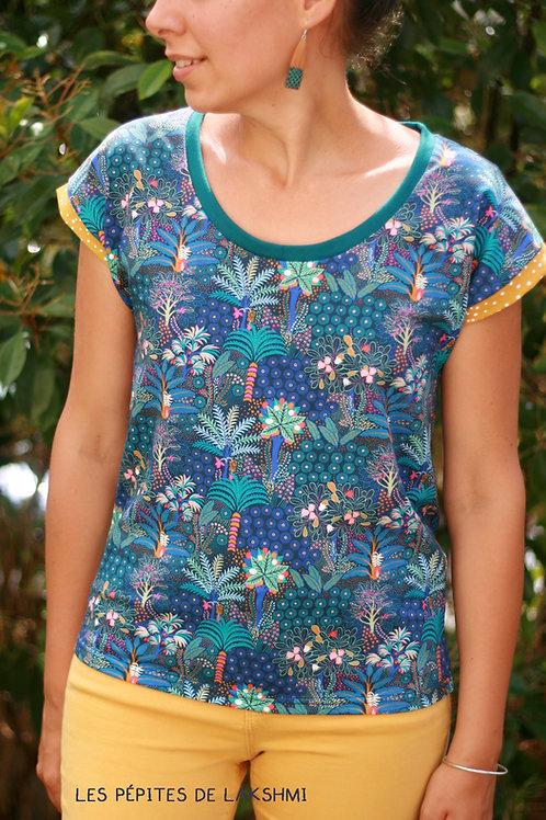 Tee-shirt Jungle bleue