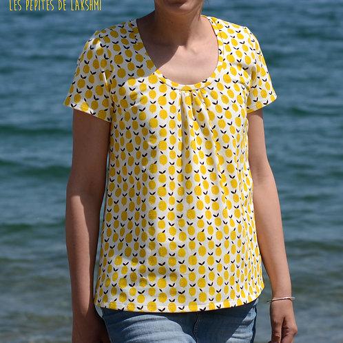 Tee-shirt MC femme citrons - 34-46