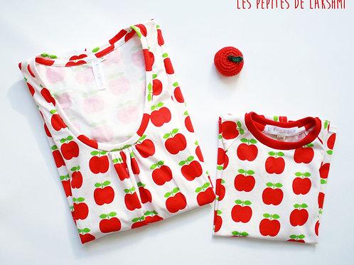 Duo mère/fille pommes