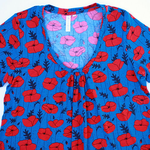 Tee-shirt ML femme coquelicots - 34-46