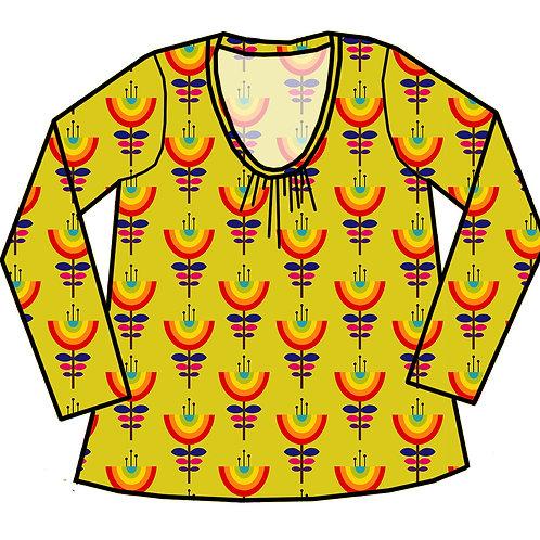 Tee-shirt femme Fleurs arc-en-ciel - 34-52