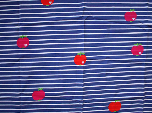 Jersey marin pommes - 45x70cm