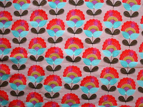 Sweat léger fleurs rétro - 95x48cm