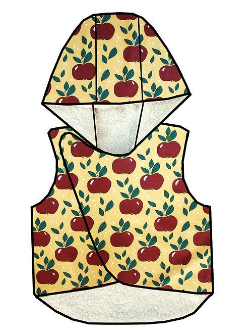 Gilet sans manches pommes rouges