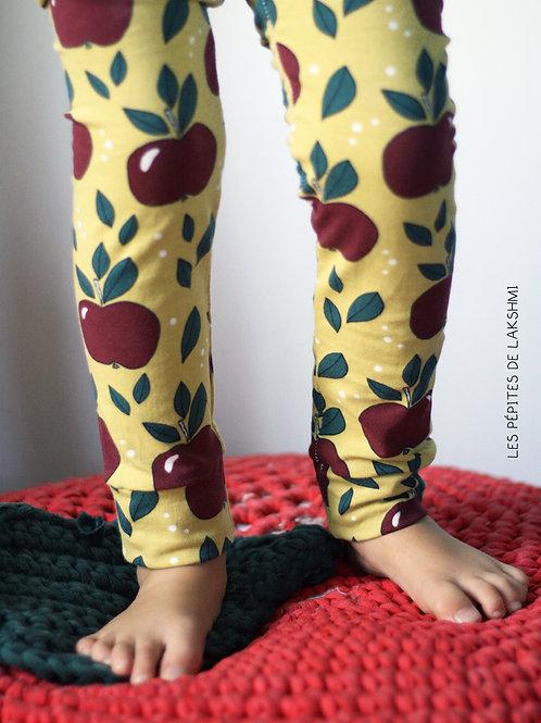 Legging pommes rouges