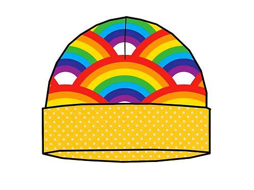 Bonnet de naissance Rainbow