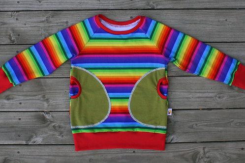 Tee-shirt ML Rainbow stripes