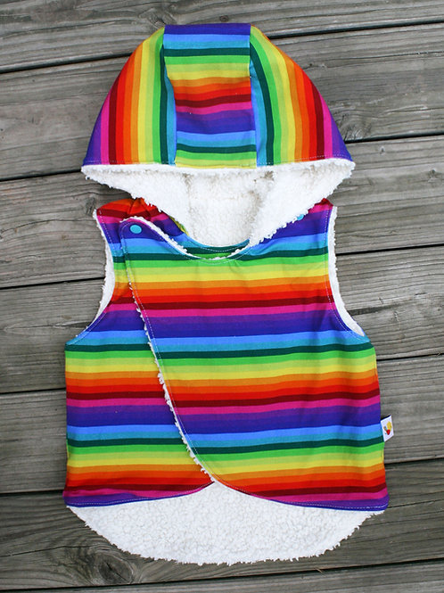 Gilet sans manches Rainbow stripes