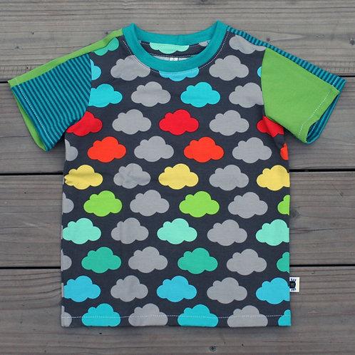 Tee-shirt double jeu nuages - 3 ans