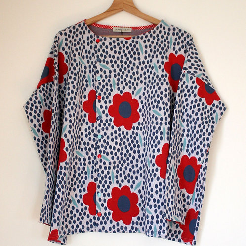 Top loose fleurs - Taille 2 (42-46)