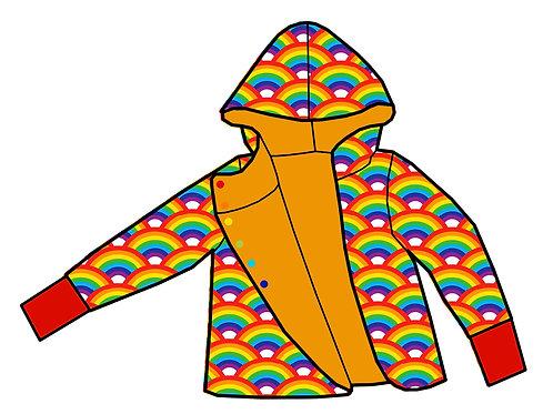Gilet réversible Jaune/Rainbow
