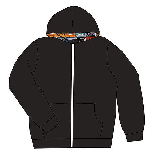 Gilet zippé à capuche Noir