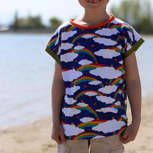 Tee-shirt Arc-en-ciel étoilé