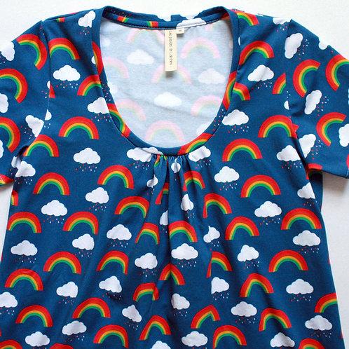 Tee-shirt femme arc-en-ciel et nuages - 34-46