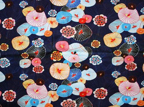 Jersey fleurs japonaises - 35x62cm