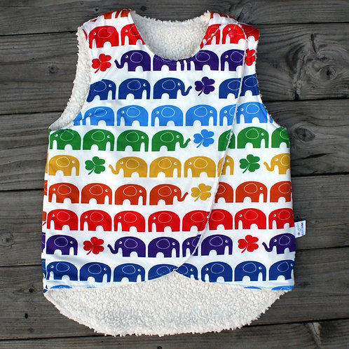 Gilet sans manches rainbow elephant