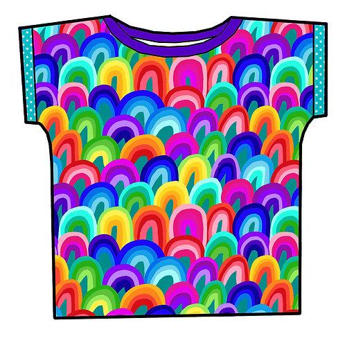 Tee-shirt Rainbow art