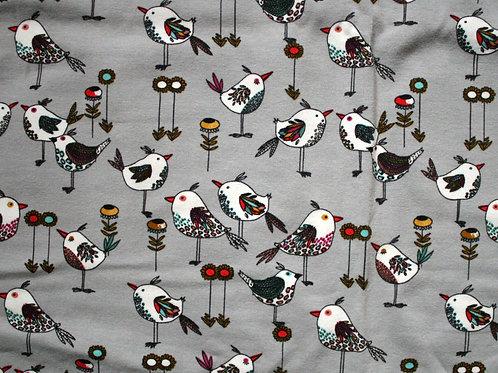 Jersey oiseaux - 35x100cm