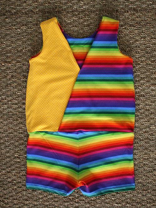 Combishort Rainbow stripes