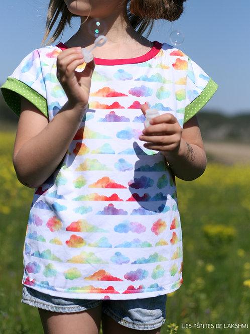 Tee-shirt MC Nuages colorés
