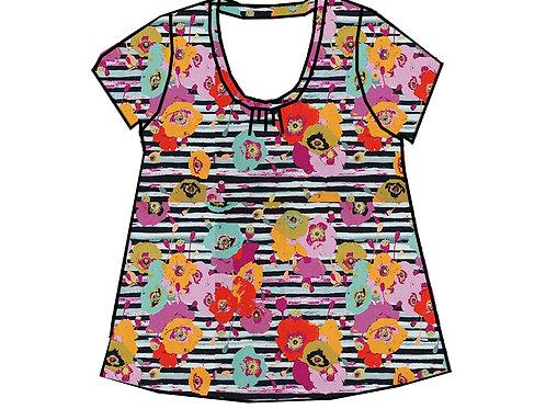 Tee-shirt MC femme fleurs - 34-46