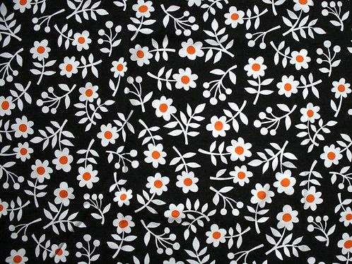 Jersey fleurs rétro - 53x63cm