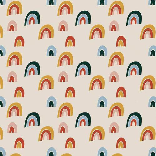 Robe MC femme rainbow blanc - 34-46