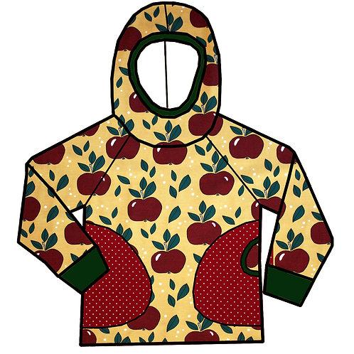 Tee-shirt à capuche pommes rouges