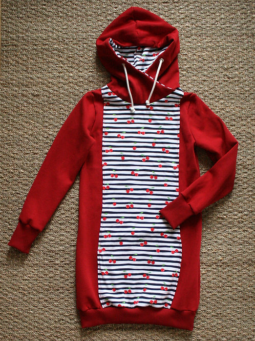Robe sweat Rouge