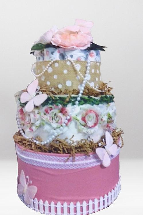 Secret Garden Diaper Cake
