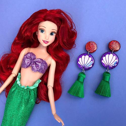 Ariel Inspired Statement Earrings