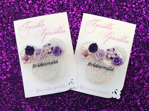 Bridesmaid Brooch / Necklace keepsake - Fully customisable