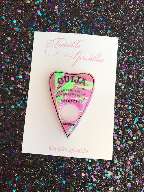 Holographic Ouija Brooch / Necklace