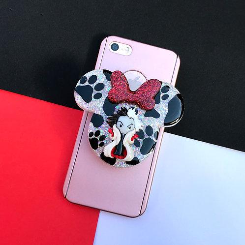 Large Cruella Inspired Phone Grip
