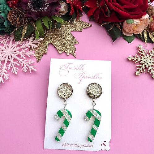 Christmas Candy Cane Earrings