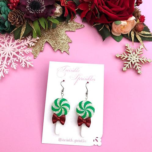 Candy Lollipop Glitter Earrings