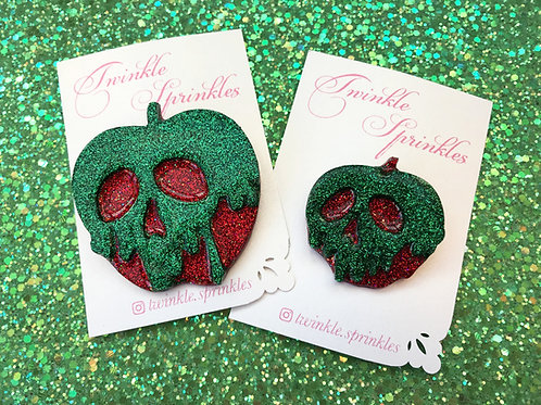 Poison apple inspired Brooch / Necklace - Various Sizes