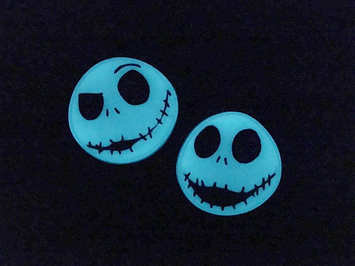 GLOW Jack Skellington inspired Brooch / Necklace