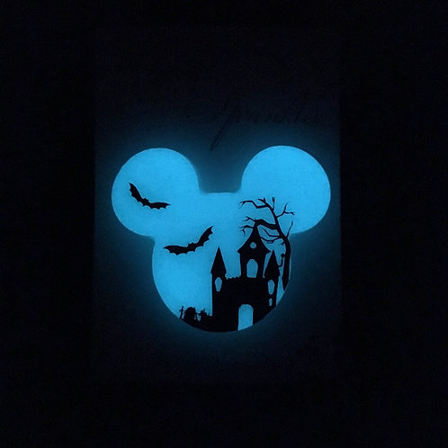 GLOW Haunted house Brooch / Necklace