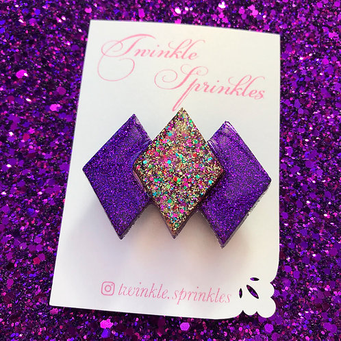 Vintage style diamond glitter Brooch - All colours available