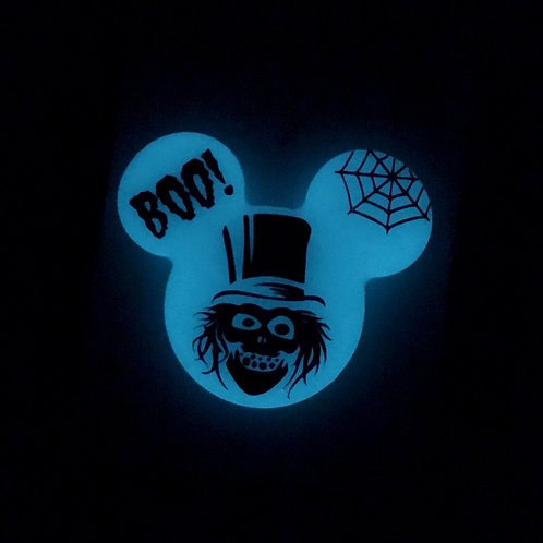 GLOW hatbox ghost inspired Brooch / Necklace