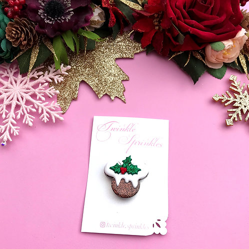 Mini Christmas Pudding Brooch / Necklace