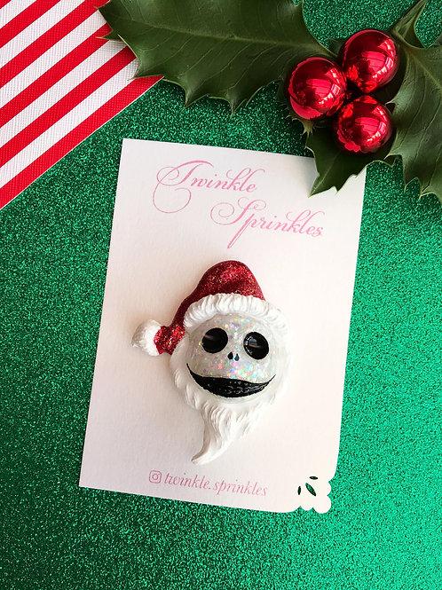 Christmas Jack Skellington inspired Brooch / Necklace