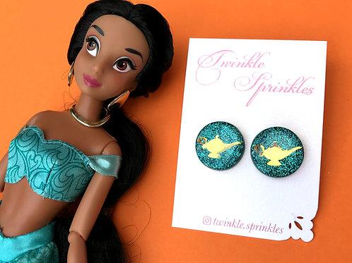 Jasmine Inspired Glitter Studs