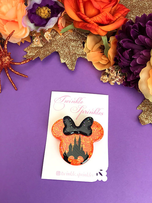 Mickey Inspired Castle Brooch / Necklace