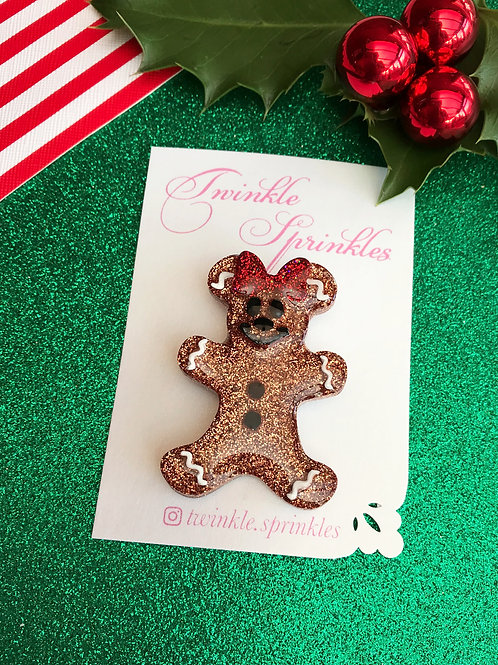 Gingerbread Lady / Gingerbread Man Brooch / Necklace
