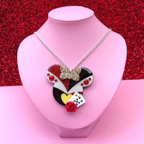 Queen Of Hearts Inspired Brooch / Necklace