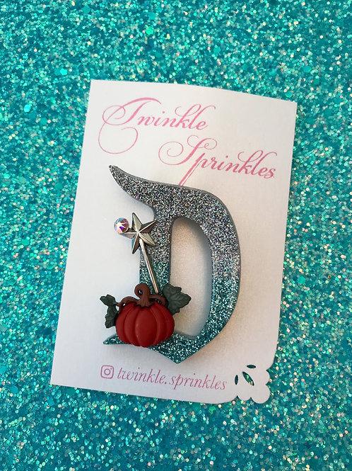Cinderella pumpkin inspired Brooch / Necklace