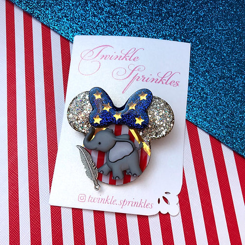 Dumbo Inspired Brooch / Necklace