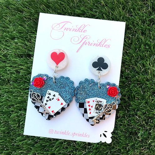 Alice In Wonderland Inspired Earrings